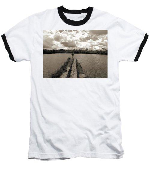 Meditation Baseball T-Shirt by Beto Machado