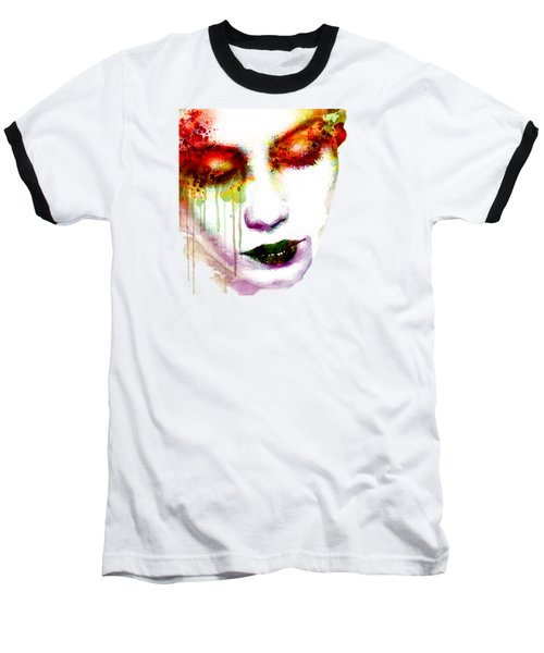 Melancholy In Watercolor Baseball T-Shirt by Marian Voicu