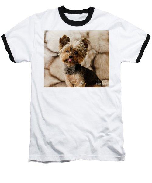 Melanie On Fur Baseball T-Shirt