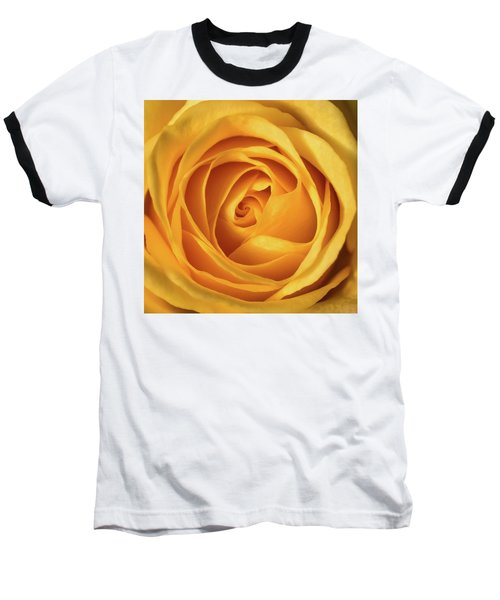 Baseball T-Shirt featuring the photograph Mellow Yellow Rose Square by Terry DeLuco