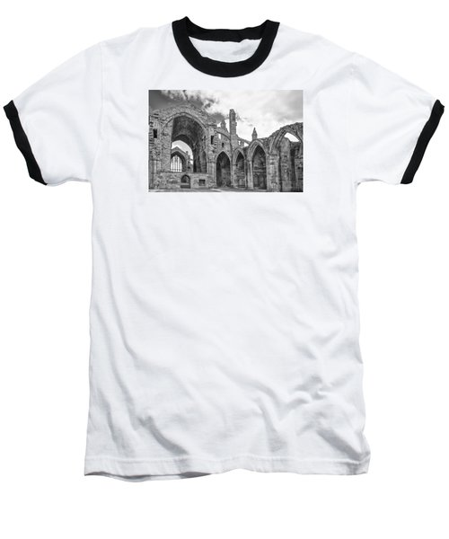 Melrose Abbey Baseball T-Shirt by Elvira Butler