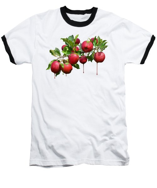 Melting Apples Baseball T-Shirt by Ivana Westin