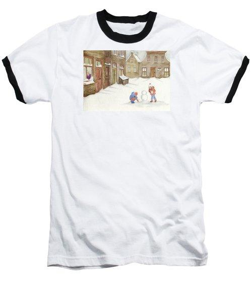 Baseball T-Shirt featuring the painting Memories........... by Annemeet Hasidi- van der Leij