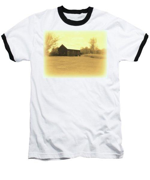 Memories Of Long Ago - Barn Baseball T-Shirt