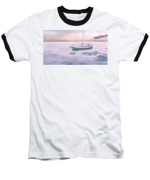 Baseball T-Shirt featuring the photograph Memories Of Seasons Past - Prisoner Of Ice by John Poon