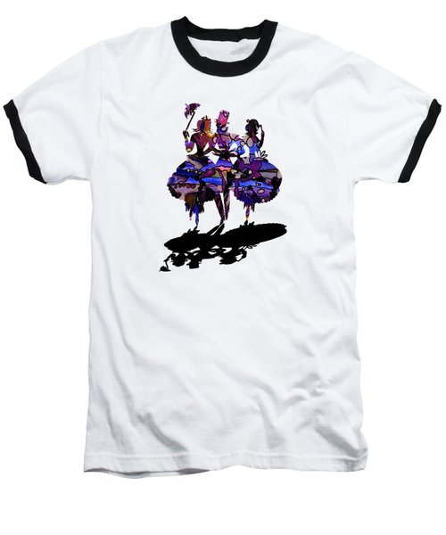 Menage A Trois On Transparent Background Baseball T-Shirt