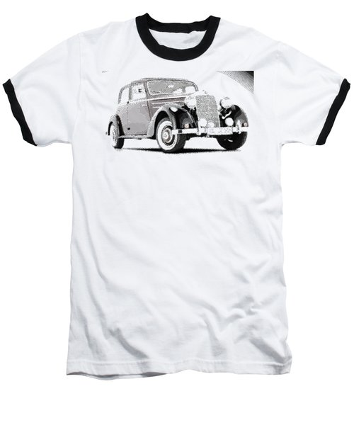 Mercedes Benz 170 S - Parallel Hatching Baseball T-Shirt