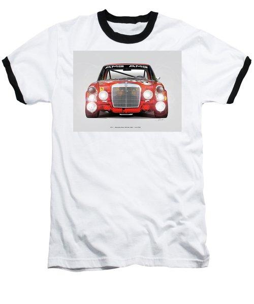 Mercedes-benz 300sel 6.3 Amg Baseball T-Shirt by Alain Jamar