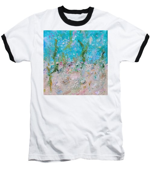 Baseball T-Shirt featuring the painting Mermaid Meditation by Judith Rhue