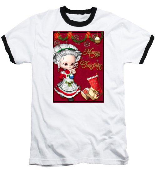 Merry Christmas Baseball T-Shirt by Paula Ayers