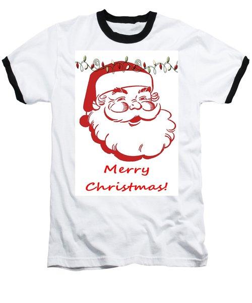 Merry Christmas Santa Claus Vertical Baseball T-Shirt