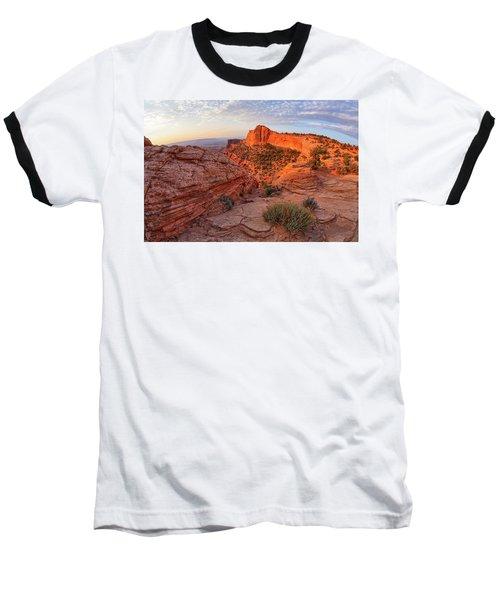 Mesa Arch Overlook At Dawn Baseball T-Shirt