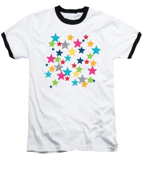 Messy Stars- Shirt Baseball T-Shirt
