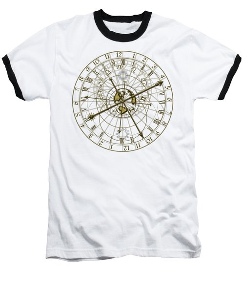 Metal Astronomical Clock Baseball T-Shirt
