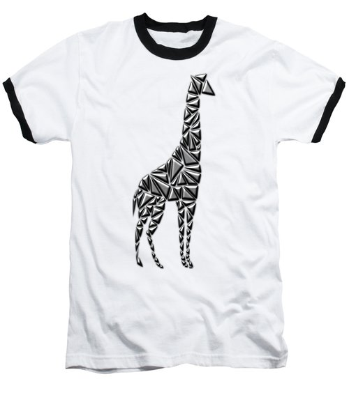 Metallic Giraffe Baseball T-Shirt by Chris Butler