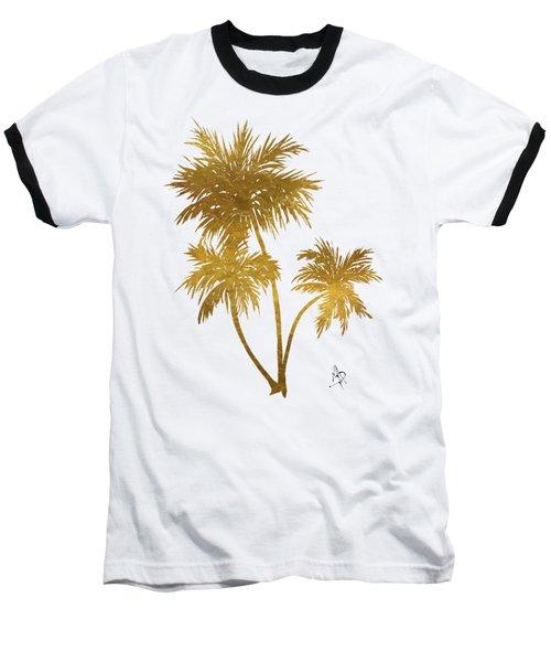 Metallic Gold Palm Trees Tropical Trendy Art Baseball T-Shirt