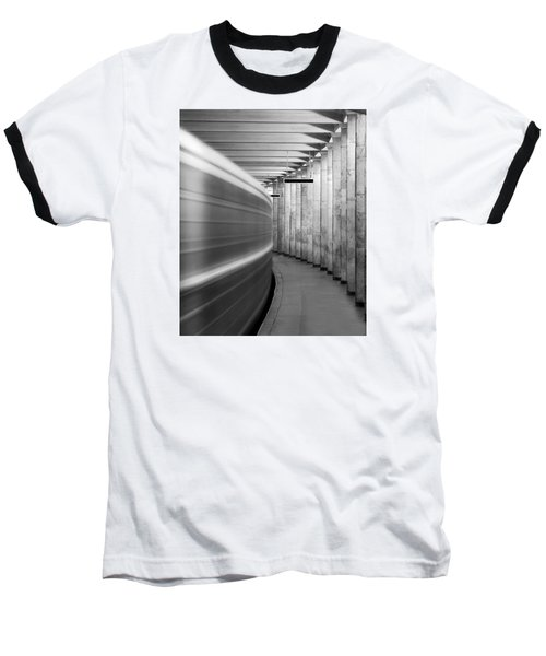 Metro #0110 Baseball T-Shirt by Andrey Godyaykin