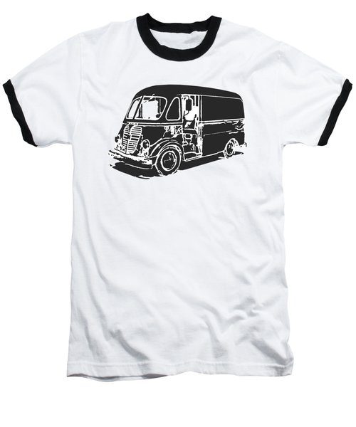 Metro Step Van Tee Baseball T-Shirt by Edward Fielding