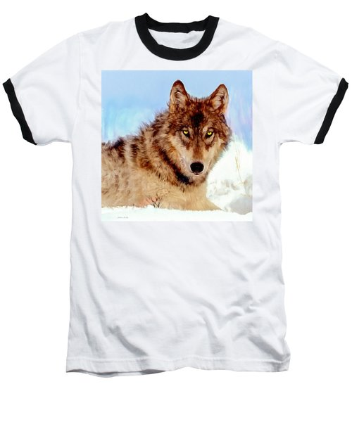 Mexican Wolf Painting Baseball T-Shirt