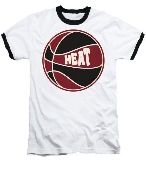 Miami Heat Retro Shirt Baseball T-Shirt by Joe Hamilton