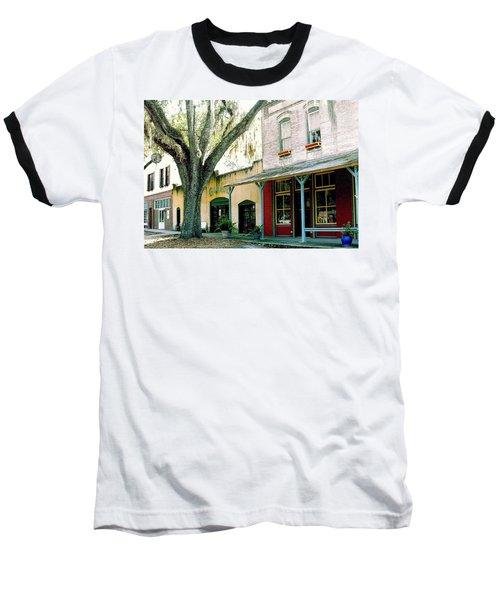 Micanopy Storefronts Baseball T-Shirt