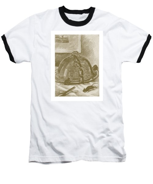 Baseball T-Shirt featuring the drawing Mice Have It Covered by David Davies