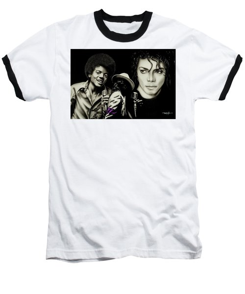 Michael Jackson - The Man In The Mirror Baseball T-Shirt