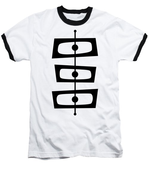 Mid Century Shapes 1 Transparent Baseball T-Shirt