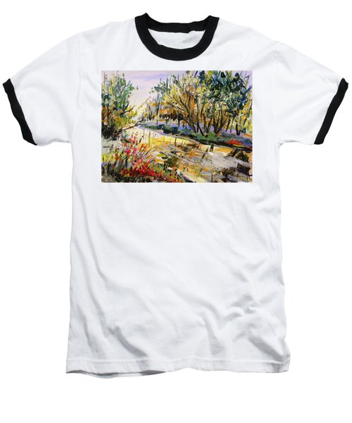 Baseball T-Shirt featuring the painting Mid-morning Light by John Williams