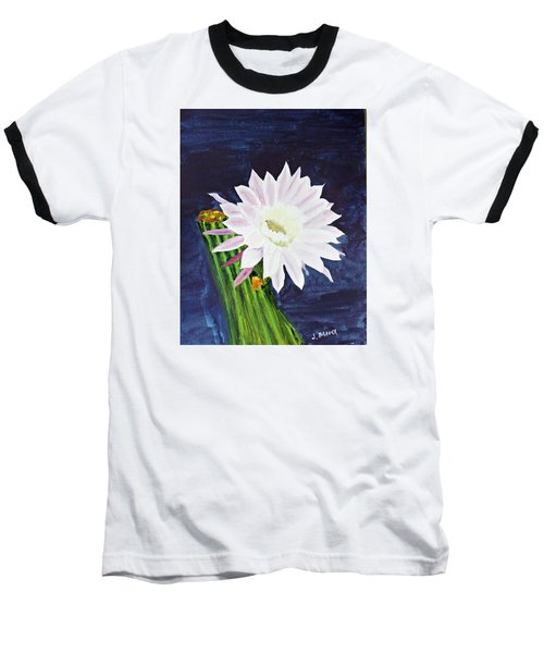 Baseball T-Shirt featuring the painting Midnight Blossom by Jack G  Brauer