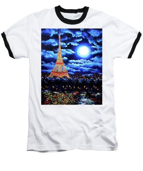 Midnight In Paris Baseball T-Shirt by Laura Iverson