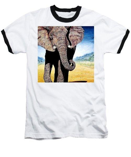 Mighty Elephant Baseball T-Shirt by Hartmut Jager