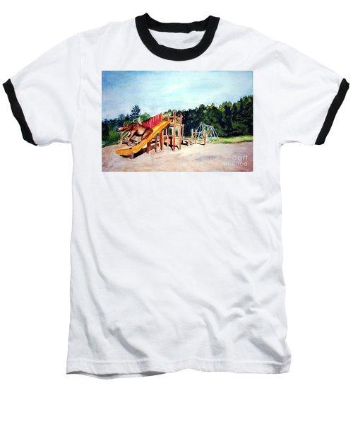 Mildred Goes Down The Slide Baseball T-Shirt