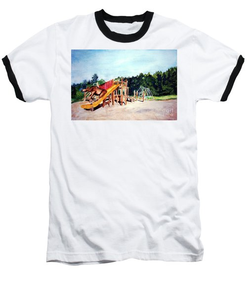 Mildred Goes Down The Slide Baseball T-Shirt
