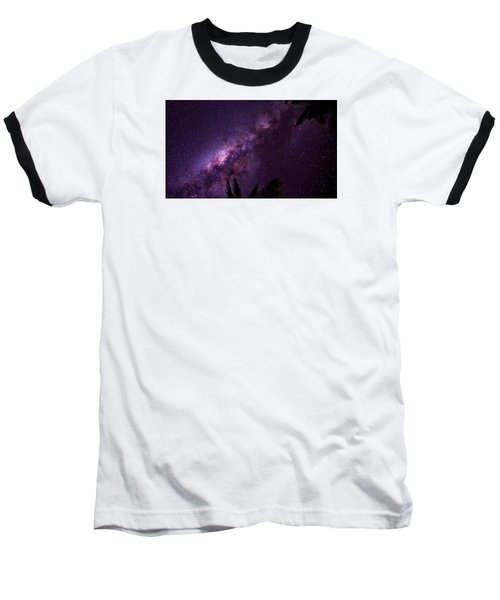 Milky Way Over Mission Beach Narrow Baseball T-Shirt