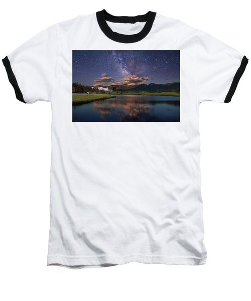 Milky Way Over The Omni Mount Washington Baseball T-Shirt