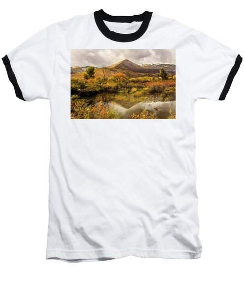Mill Canyon Peak Reflections Baseball T-Shirt