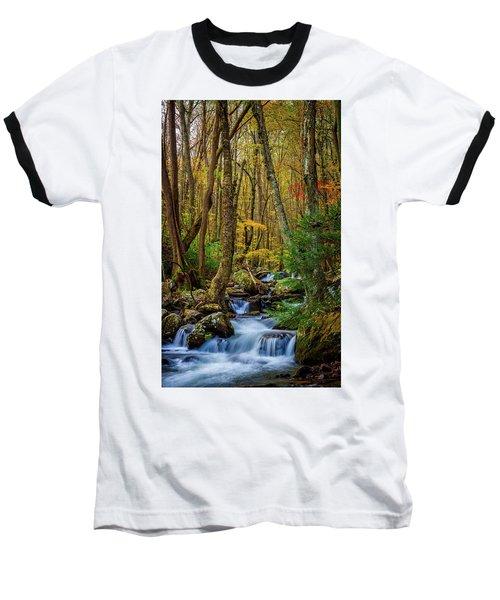 Mill Creek In Fall #1 Baseball T-Shirt