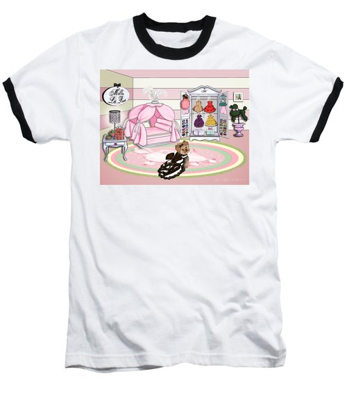 Millie Larue's French Room Baseball T-Shirt by Catia Cho