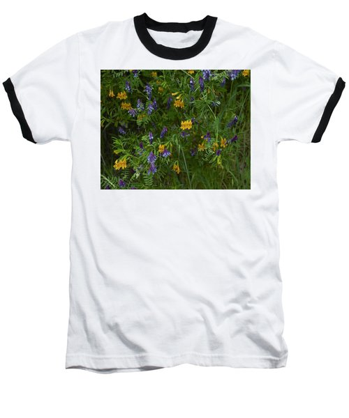 Baseball T-Shirt featuring the photograph Mimulus And Vetch by Doug Herr