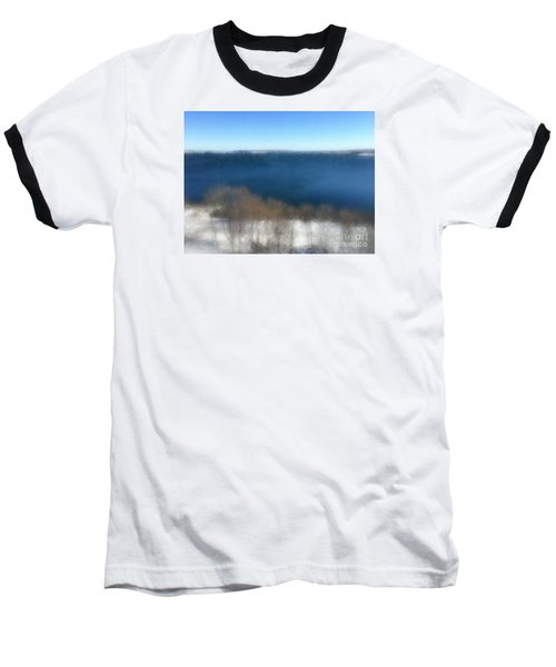 Minimalist Soft Focus Seascape Baseball T-Shirt by Patricia E Sundik