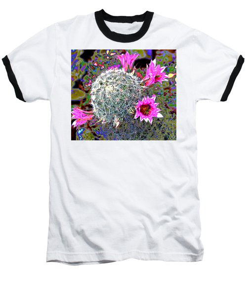 Mini Cactus Baseball T-Shirt by M Diane Bonaparte