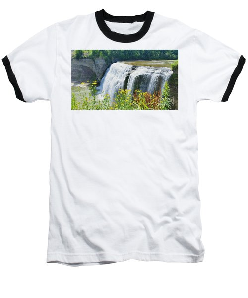 Baseball T-Shirt featuring the photograph Mini Falls by Raymond Earley