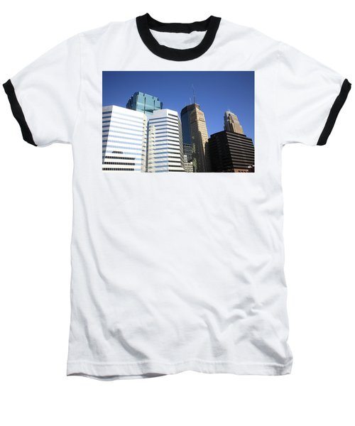 Baseball T-Shirt featuring the photograph Minneapolis Skyscrapers 11 by Frank Romeo