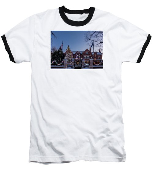 Christmas Lights Series #6 - Minnesota Governor's Mansion Baseball T-Shirt