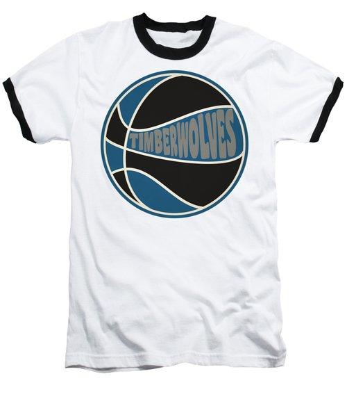 Baseball T-Shirt featuring the photograph Minnesota Timberwolves Retro Shirt by Joe Hamilton