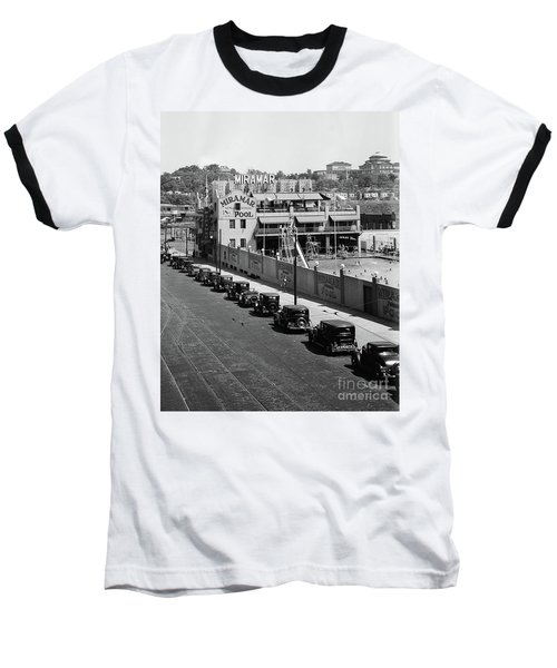 Baseball T-Shirt featuring the photograph Miramar Saltwater Pool by Cole Thompson