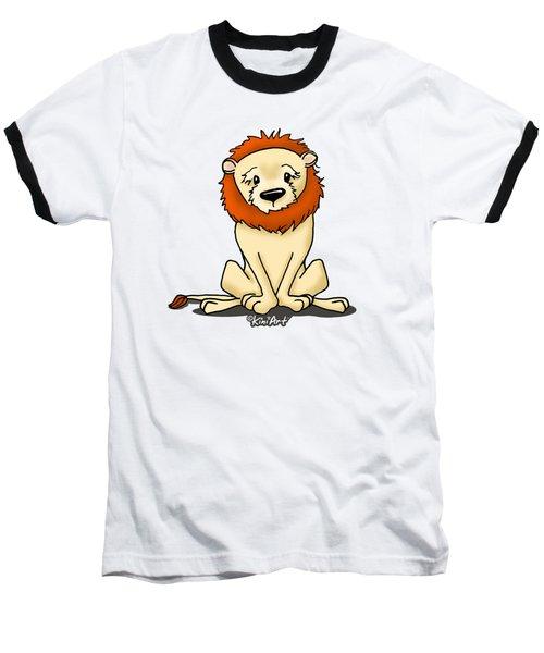 Lion Peaceful Reflection  Baseball T-Shirt