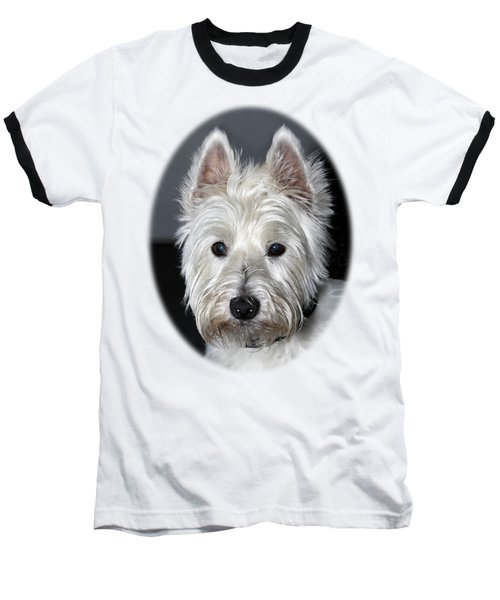 Mischievous Westie Dog Baseball T-Shirt