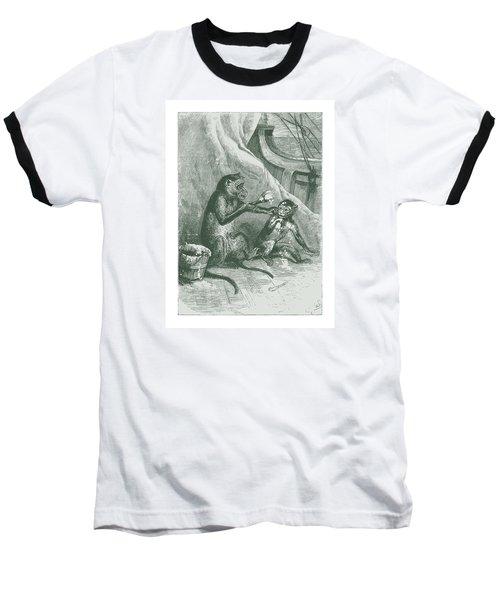 Mischievous Monkey Baseball T-Shirt